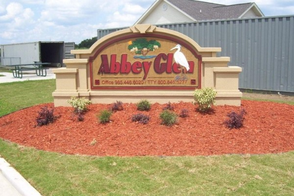 Abbey Glen, Thibodaux, LA, sign
