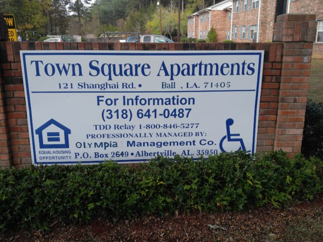 Town Square, Ball, Louisiana, sign