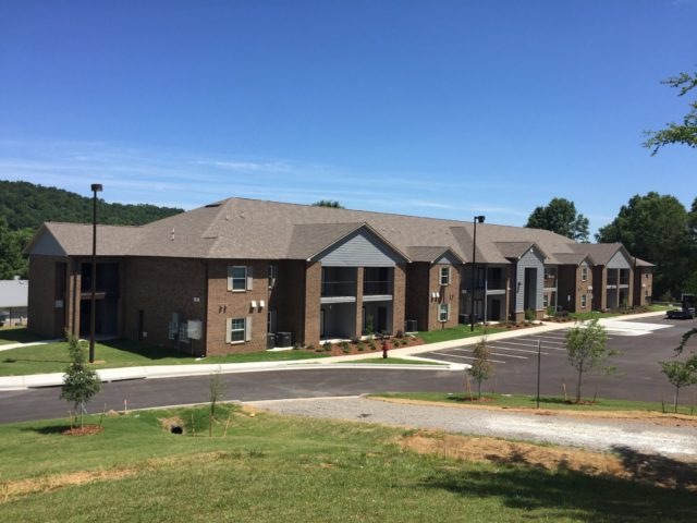 McCay Senior Gardens, Oneonta, AL, apartment building and parking lot