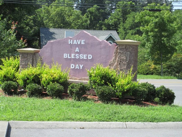 Beaver Hollow, Johnson City, Tennessee sign blessed day