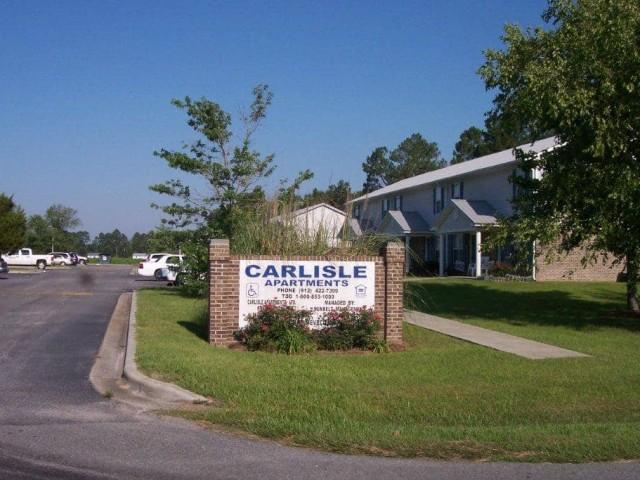 Carlisle Apartments, Pearson, GA sign 2