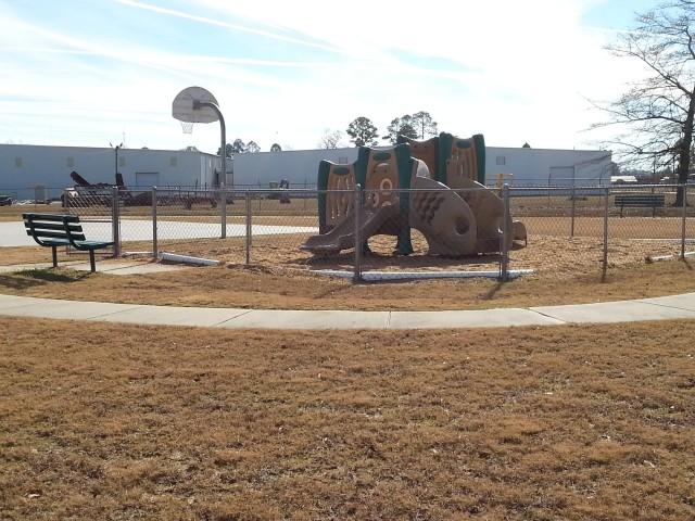 Cloverset Place, Hazelhurst, Georgia, playground and basketball court