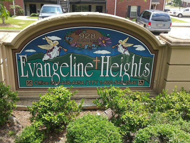 Evangeline Heights, Phenix, AL sign
