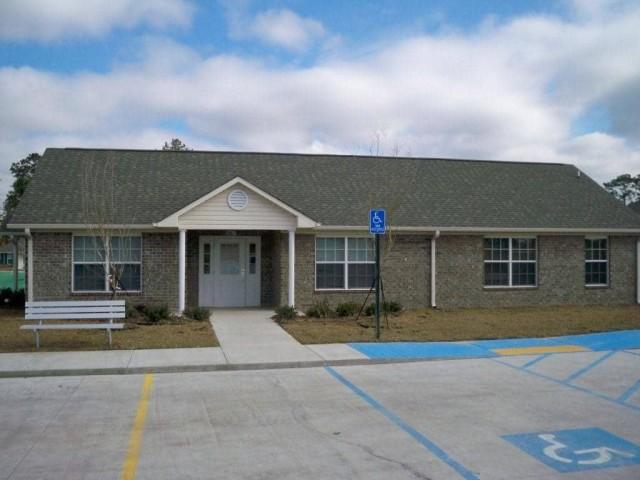 Fullerton Estates, Baton Rouge, LA community building and parking lot