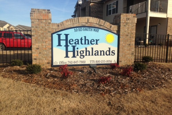 Heather Highlands, Franklin Springs, GA, sign