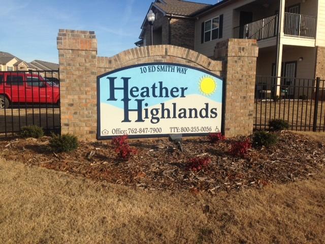 Heather Highlands, Franklin Springs, GA, sign