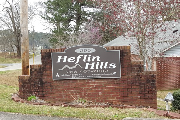 Heflin Hills, Heflin, AL entrance sign