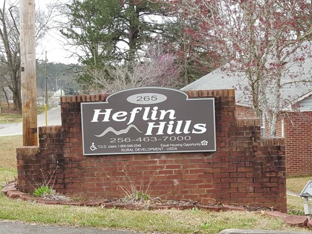 Heflin Hills, Heflin, AL entrance sign