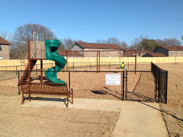 Marshall Gardens, Milan, TN, Playground slide