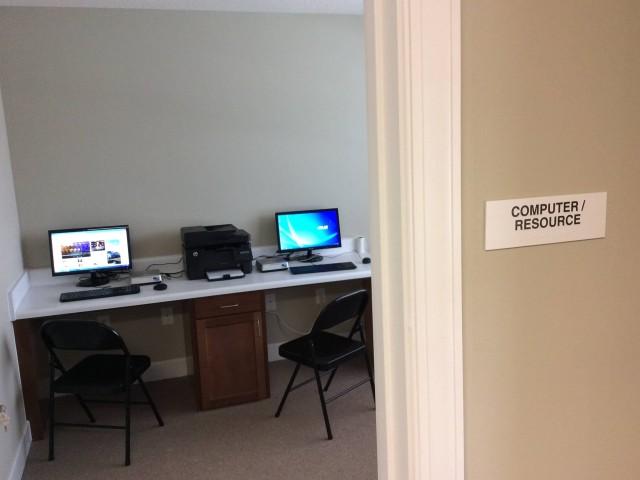 Marshall Gardens, Milan, TN, community building computer room