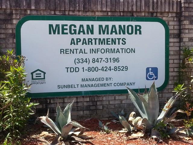 Megan Manor, Chatom, AL, sign