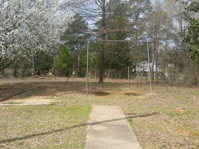 Munford Village, Munford, AL, blooming swingset