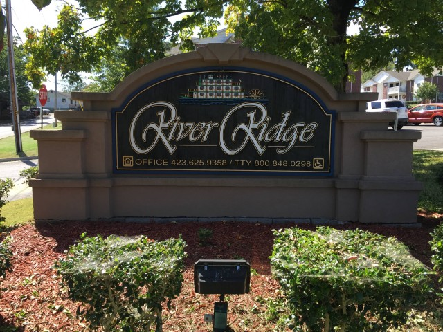 River Ridge, Newport, Tennessee sign