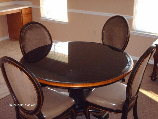 River West, Port Allen, Louisiana, community building table seating