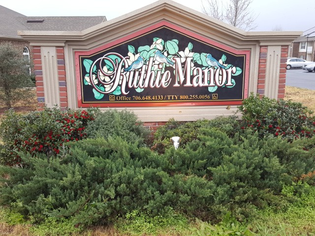 Ruthie Manor, Thomaston, GA, sign