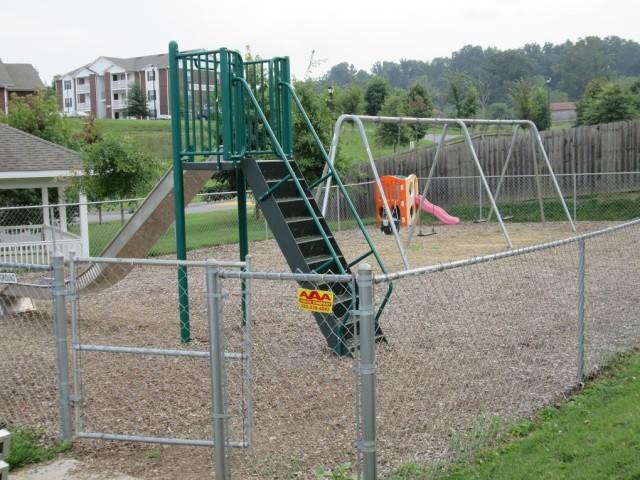 Sage Meadows, Briston, TN playground slide and swings