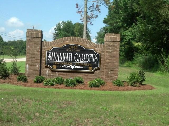 Savannah Garden, Boaz, AL, sign