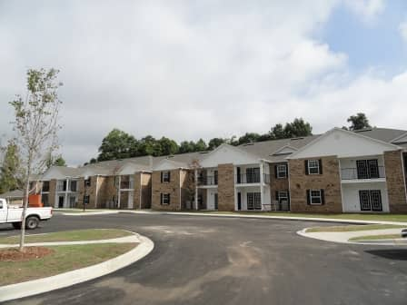 Serenity Place, Seneca, SC, apartment buildings and entrance