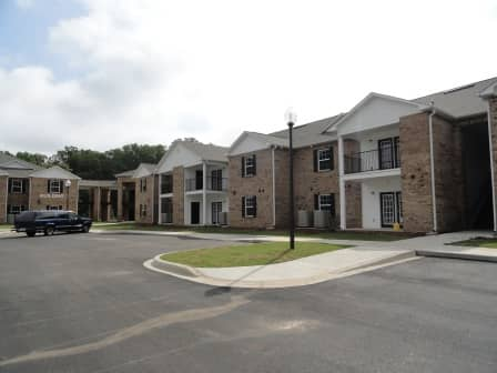 Serenity Place, Seneca, SC, apartment buildings and parking