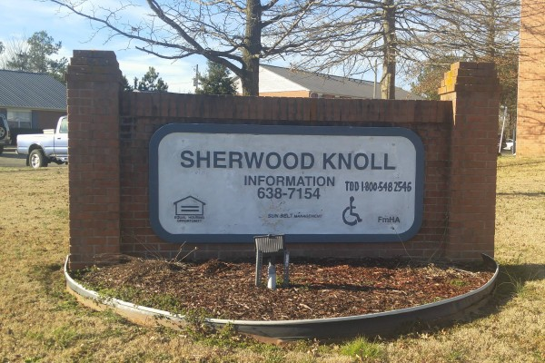 Sherwood Knoll, Rainsville, AL sign