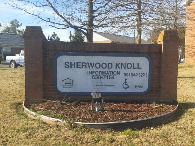Sherwood Knoll, Rainsville, AL sign