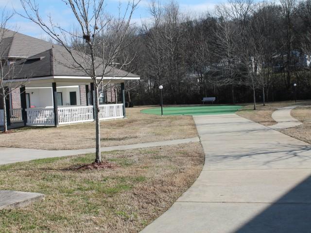 South Rossville Senior, Rossville, GA, pavillion and putting green
