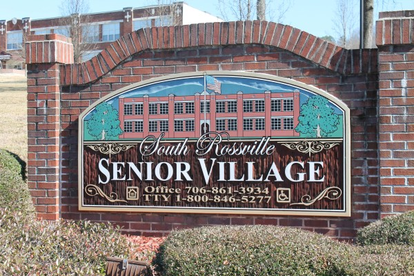 South Rossville Senior, Rossville, GA, sign close up