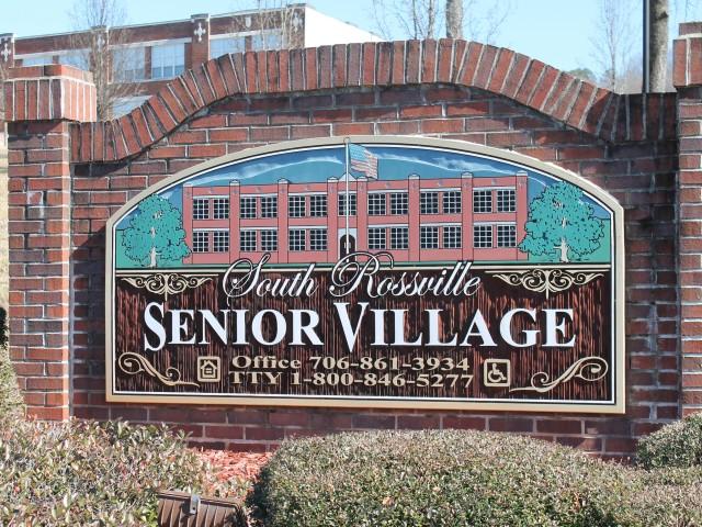South Rossville Senior, Rossville, GA, sign close up
