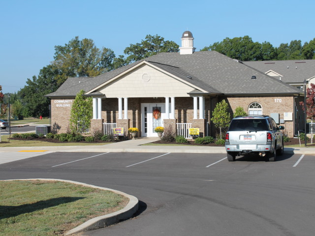 Villas of Savannah, Savannah, TN, community building landscaped