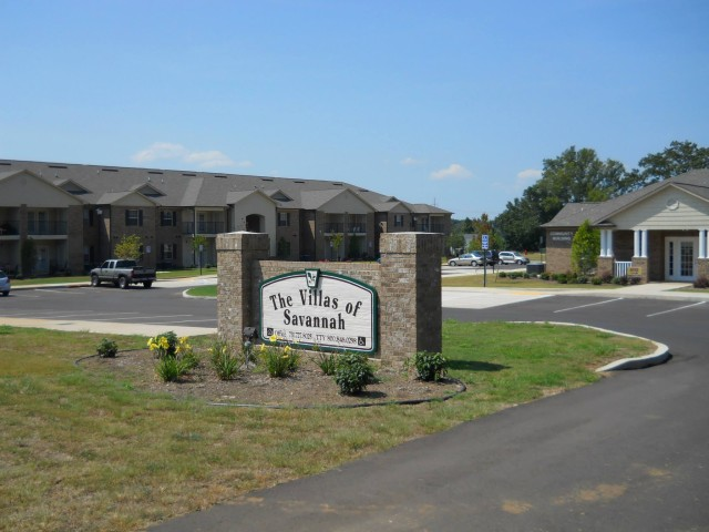 Villas of Savannah, Savannah, TN, sign entrance