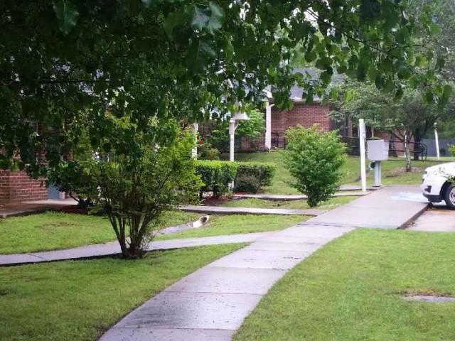 West Hill Square Apartments in Gordo, Alabama sidewalks