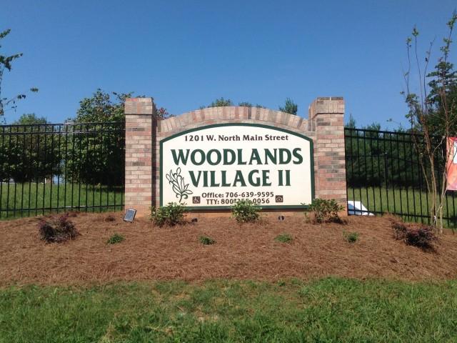 Woodland Village, Lafayette, Georgia sign