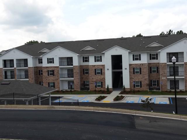 Woodland Village, Lafayette, Georgia apartment building and parking