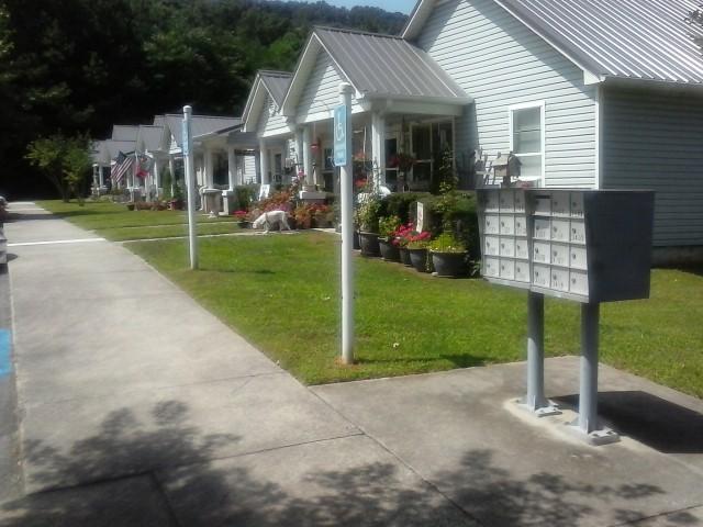 Lakeview Estates, Guntersville, AL sidewalks and mail recepticles