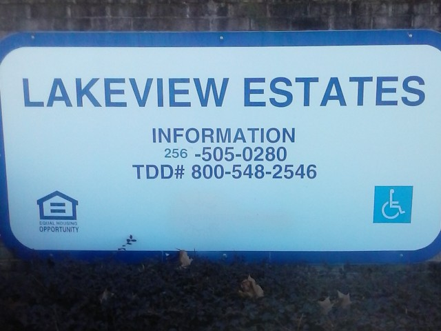 Lakeview Estates, Guntersville, AL sign