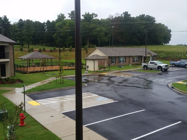 Morristown, TN, Chloe Lane grounds and handicap parking view