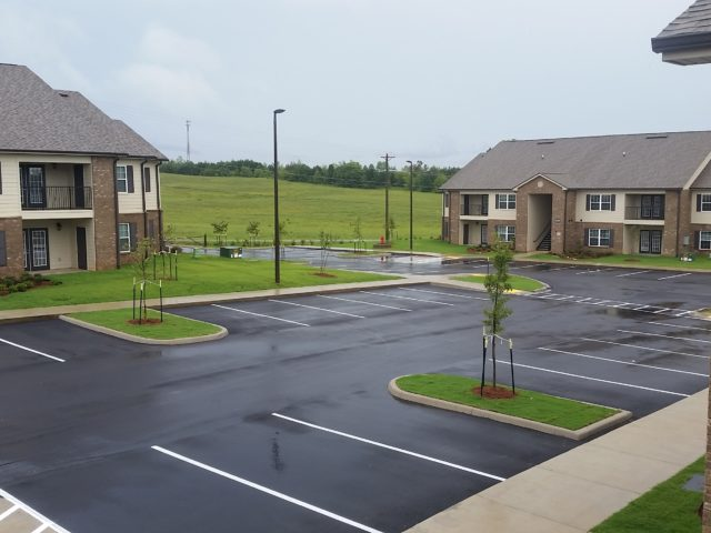 Morristown, TN, Chloe Lane large parking lot view
