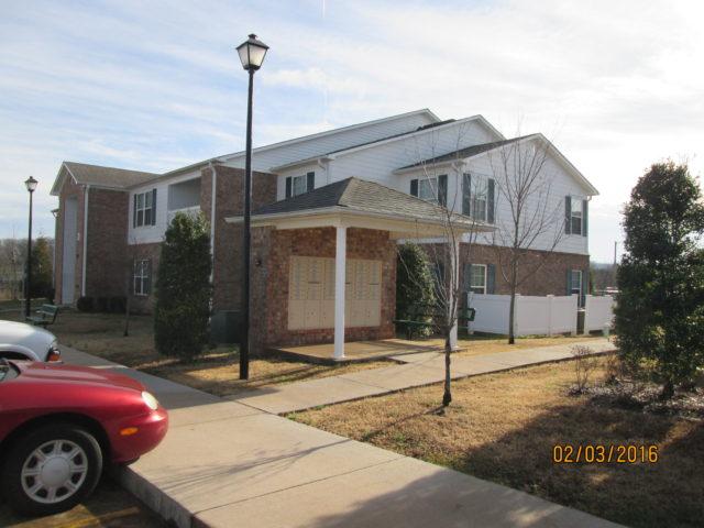 Stoneridge Estates mail center and bus stop, Sparta, TN