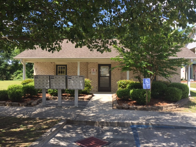 Cryar Homes, Albertville, AL office and mail recepticles
