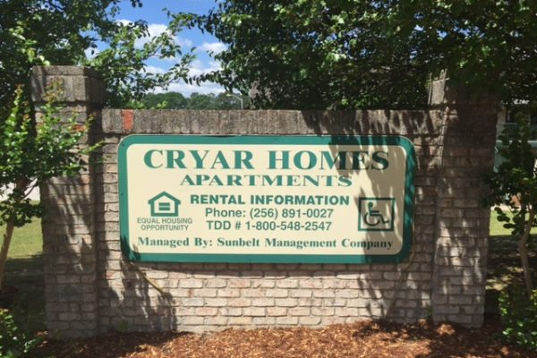 Cryar Homes, Albertville, AL sign