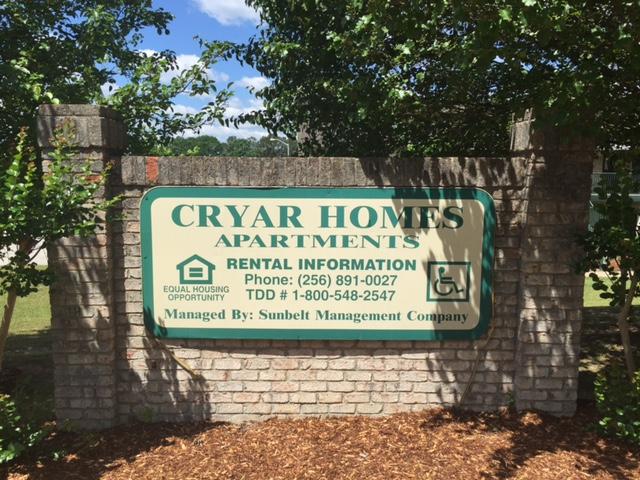 Cryar Homes, Albertville, AL sign