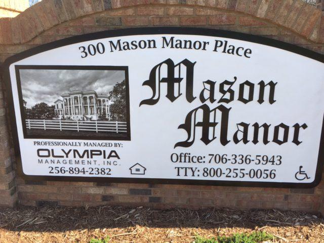Commerce, Georgia, Mason Manor sign