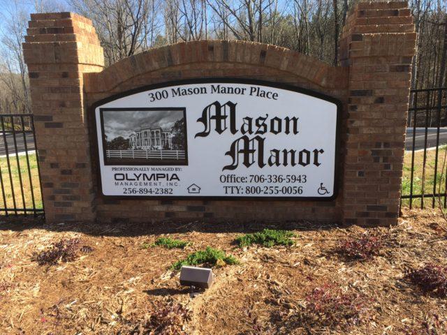 Commerce, Georgia, Mason Manor complex sign