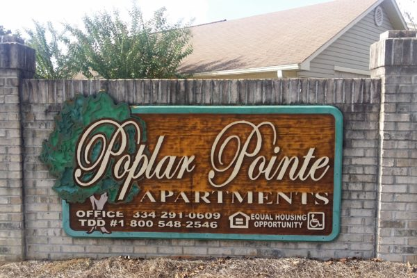 Poplar Pointe, Phenix City, Alabama sign